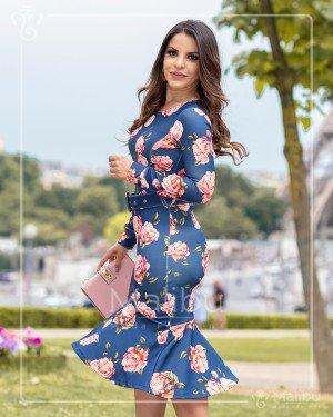 c0957dce80 Vestido sino azul c  estampa floral