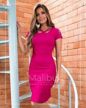 8b0aac2ff Vestido tubinho pink | Moda Evangelica