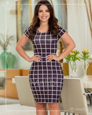 Vestido Tubinho Com Bolsos Estampa Digital | Moda Evangelica