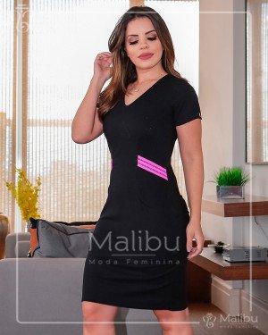 29f6f8c17 Laura | Moda Evangelica · Laura. Vestido tubinho preto detalhe Rosa Neon. R $129